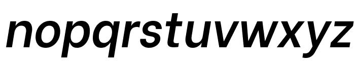Be Vietnam SemiBold Italic Font LOWERCASE