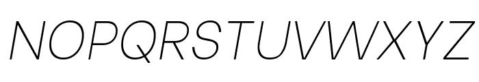 Be Vietnam Thin Italic Font UPPERCASE