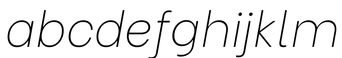 Be Vietnam Thin Italic Font LOWERCASE