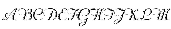 Beachman Script Font UPPERCASE