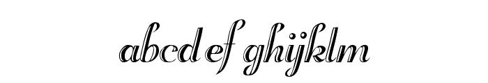 Beachman Script Font LOWERCASE
