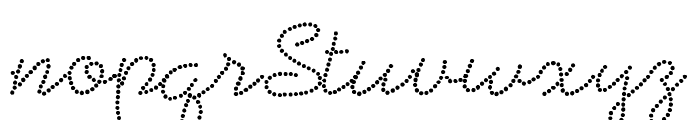 BeadworkDemo Font LOWERCASE