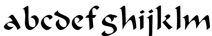 Beanie Plain: Font LOWERCASE