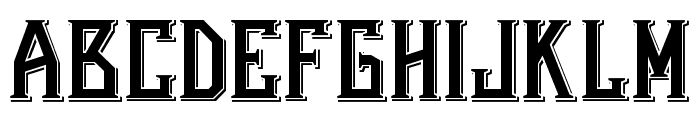 Bearded Lady Combined Font UPPERCASE