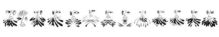 Beardfaces Font LOWERCASE