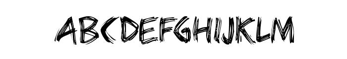 Bearpaw Font UPPERCASE