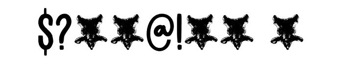 Bearskin DEMO Regular Font OTHER CHARS
