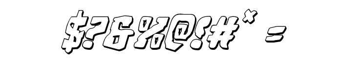 Beastian 3D Italic Font OTHER CHARS