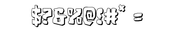 Beastian 3D Regular Font OTHER CHARS