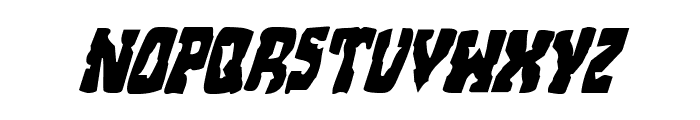 Beastian Condensed Italic Font UPPERCASE