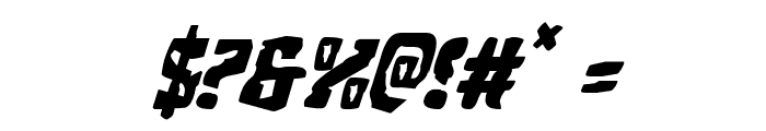 Beastian Italic Font OTHER CHARS