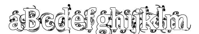 Beauregard Hollow Font UPPERCASE
