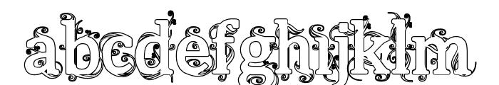 Beauregard Hollow Font LOWERCASE