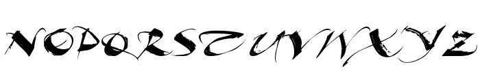 Beautiful Ink Font UPPERCASE