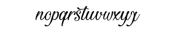 Beautiful and Openhearted Font LOWERCASE