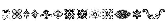 BeautifulOrnamentsThree Font LOWERCASE