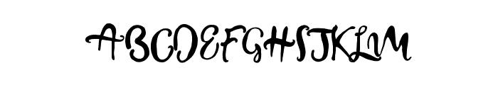 BeautifyScript Font UPPERCASE