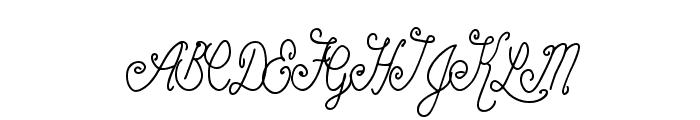 BeautyScript Font UPPERCASE