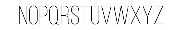 Bebas Neue Light Font UPPERCASE