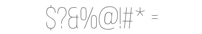Bebas Neue Thin Font OTHER CHARS