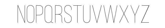 Bebas Neue Thin Font UPPERCASE