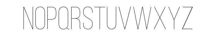 Bebas Neue Thin Font LOWERCASE