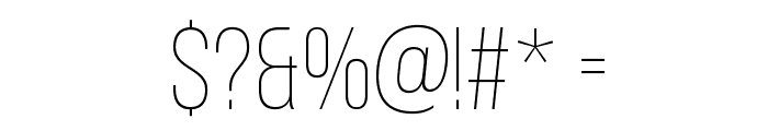 BebasNeueLight Font OTHER CHARS