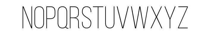 BebasNeueLight Font LOWERCASE