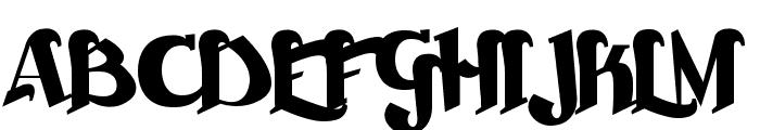 Beckasin Font UPPERCASE