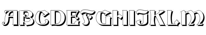 Becker Shadow Font UPPERCASE
