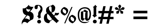 Beckett-Kanzlei Font OTHER CHARS