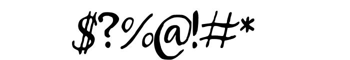 Beckler Font OTHER CHARS