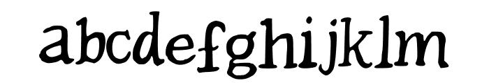 Beckler Font LOWERCASE