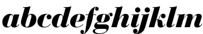 Bedini  Bold Italic Font LOWERCASE