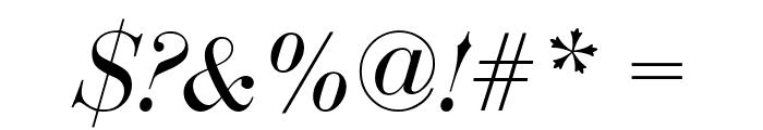 Bedini  Italic Font OTHER CHARS