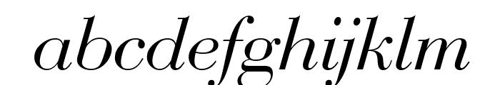 Bedini  Italic Font LOWERCASE