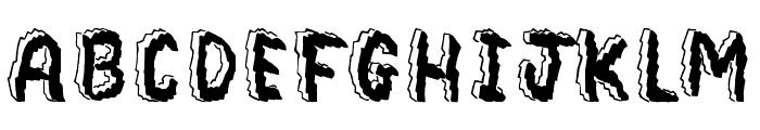 Bedrock Font UPPERCASE