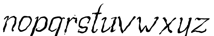 Beegal light Italic Demo Font LOWERCASE