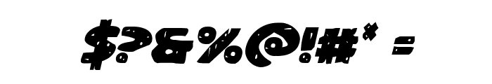 Behemuth Italic Font OTHER CHARS