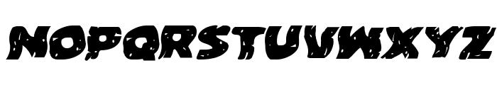 Behemuth Warped Italic Font UPPERCASE