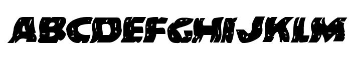 Behemuth Warped Italic Font LOWERCASE