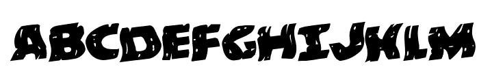 Behemuth Warped Rotalic Font UPPERCASE