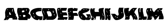 Behemuth Warped Font LOWERCASE