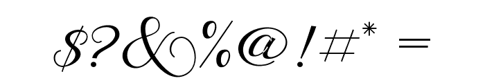 BehindScript Font OTHER CHARS