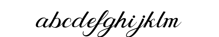 BehindScript Font LOWERCASE