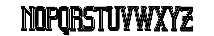 Beholder Outline Filled Regular Font LOWERCASE
