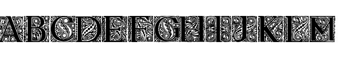 Behrens Antiqua Initialen Regular Font UPPERCASE
