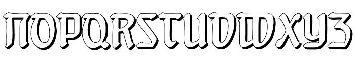 Behrensschrift Shadow Font UPPERCASE