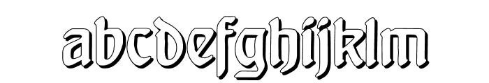 Behrensschrift Shadow Font LOWERCASE