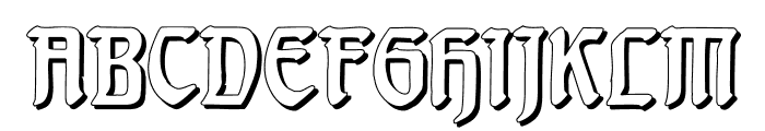 BehrensschriftShadow Font UPPERCASE
